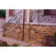 Кованые лестничные ограждения «Лоза» фото