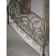 Лестничные ограждения, перила для лестниц. Кованые и сварные. фото