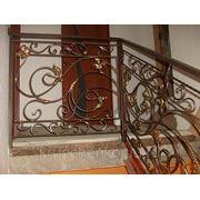 Кованые лесничные и балконные перила фото
