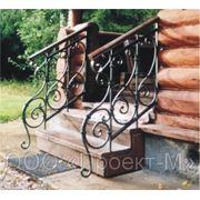 Кованые лестничные перила, ограждения для лестниц фото