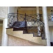 Кованое ограждение лестницы и балюстрады фото