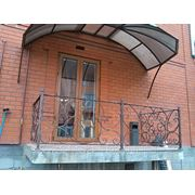 Кованое ограждение балкона ручной работы фото