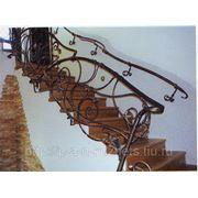 Изготавление и установка кованных лестничных ограждений фото