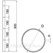 Стойка 38,1 мм под 4 ригеля AISI 304 (СР-4/38 AISI 304) фото