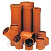 Труба для наружной канализации с раструбом 117/100 (6м) фото