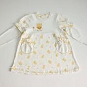 Платье детское с дл. Рукавами медвежонок 3862-ип-05 интерлок пенье, размер 52-92 фото