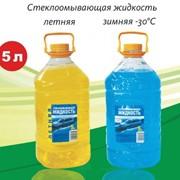 Жидкость стеклоомывающая для автомобиля, летняя и зимняя 5 л. фото