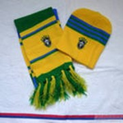 Текстильные и вязаные шарфы с логотипами команд фото