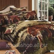 Комплект постельного белья Arya 3D Strong Tiger сатин полуторный 1001808 фото