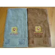 Вышивка логотипов на полотенцах