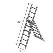 Алюминиевая лестница трёхсекционная Луч АЛ 3x6 фото