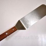 Лопатка металлическая с деревянной ручкой L=20см Proff Chef Line LQ фото