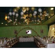Оформление свадебных помещений шариками фото