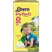 Трусики Libero Dry Pants №4 (7-11 кг) 34 шт фото