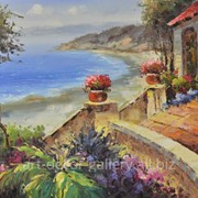 "Картина ""Средиземноморский пейзаж"" 61х91 фото"