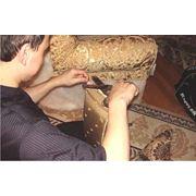 Перетяжка мягкой мебели на дому фото