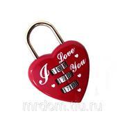Замочек для влюблённых с кодовым набором на блистере (849028) фото