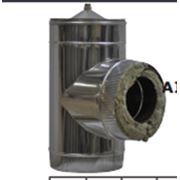Тройник двустенный с конденсатоотводчиком 90°