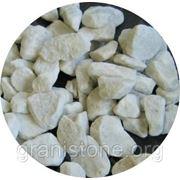 Мраморный щебень 10-20 мм белый фото