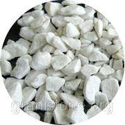 Мраморный щебень 5-12 мм белый фото