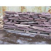 Камень - сланец кварцованный 30-60 кг (красный) фото