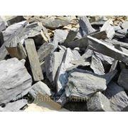 Камень - сланец кварцованный 200-300 кг (зеленый) фото