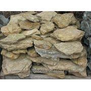 Камень - сланец кварцованный 15-30 кг (желтый с белыми прожилками) фото