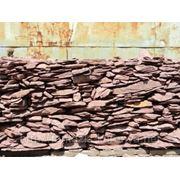 Камень - сланец кварцованный 15-30 кг (красный) фото