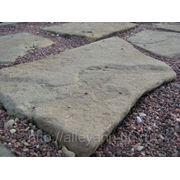 Плитняк РАДУГА из песчаника голтованный (толщина 40-50мм) фото