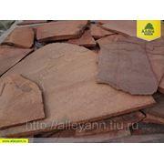 Плитняк РОСТОВСКИЙ из песчаника красный (фракция 15-20 мм) фото
