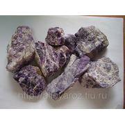 Декоративный природный камень-флюорит фото