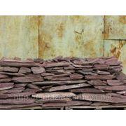 Камень - сланец кварцованный 100-200 кг (красный) фото
