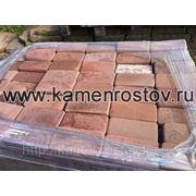 Плитка из песчаника 3 см (+-5мм) Цвет: терракотово-красный (Огалтовка, Размер: 10х20) фото