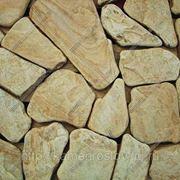 Пластушка песчаник огалтованый 3-4 см (+-5мм) Цвет: бело-желтый фото