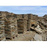 Песчаник серо-зеленый толщина 2 см (для облицовки и мощения) фото