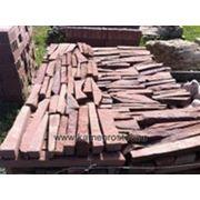 """Обпил камня """"Лапша"""" 1,5-5 см (+-5мм) терракотово-красный фото"""