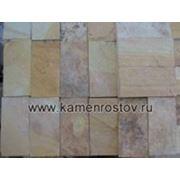 Плитка из песчаника 3 см (+-5мм) Цвет: бело-желтый (Размер: 10х5) фото