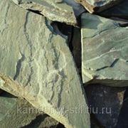 Песчаник зеленый Хакасия 40-60мм фото