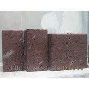 Туф розовый брусчатка из туфа и базальта 10*10*20 фото