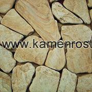 Пластушка песчаник огалтованый 4-5 см (+-5мм) Цвет: желто-коричневый фото