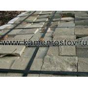 Плитка из песчаника 2 см (+-5мм) Цвет: серо-зеленый (Размер: 10х10) фото