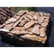 Камень 2 см бежево-коричневый с разводом фото