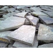 Природный камень пластушка 4 см (для мощения дорожек, площадок, автостоянок) фото