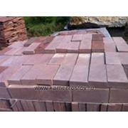 Плитка из песчаника 4 см (+-5мм) Цвет: терракотово-красный (Размер: 10х20) фото