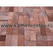 Плитка из песчаника 2 см (+-5мм) Цвет: терракотово-красный (Размер: 10х20) фото