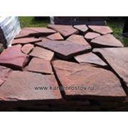 Камень-пластушка 3 см терракотово-красная фото