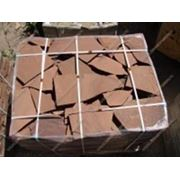 Камень-пластушка 1,5 см терракотово-красная фото