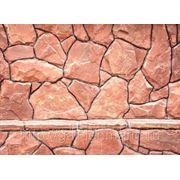 Камень природный плитняк красный толщина 1,5 см фото