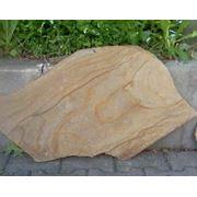 Природный камень - пластушка желтая с разводом фото