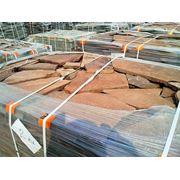 Камень природный облицовочный песчаник, цвет красный. фото